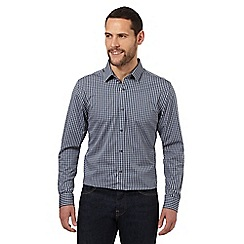 J by Jasper Conran - Big and tall blue gingham casual shirt