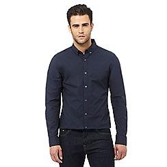 J by Jasper Conran - Navy long sleeved slim fit shirt