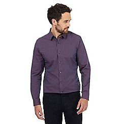 J by Jasper Conran - Purple check regular fit shirt