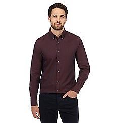 J by Jasper Conran - Dark red oxford regular fit shirt