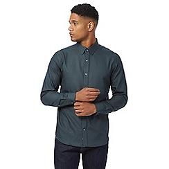 J by Jasper Conran - Dark green checked regular fit shirt