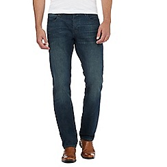J by Jasper Conran - Blue vintage wash straight jeans