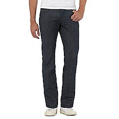 J by Jasper Conran - Big and tall blue raw straight jeans