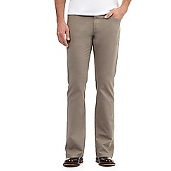 J by Jasper Conran - Dark beige straight fit chinos