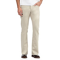 J by Jasper Conran - Big and tall beige straight fit chinos