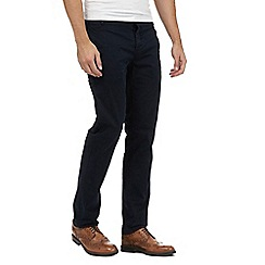 J by Jasper Conran - Big and tall navy sateen chinos