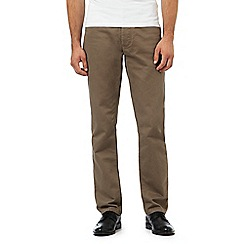 J by Jasper Conran - Big and tall light brown textured waffle trousers