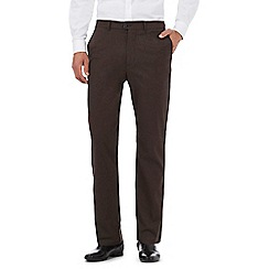 J by Jasper Conran - Dark brown marl trousers