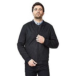 J by Jasper Conran - Big and tall navy waxed bomber jacket
