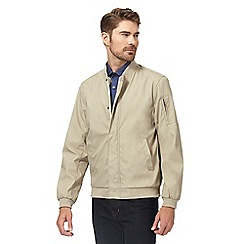 J by Jasper Conran - Big and tall taupe bomber jacket