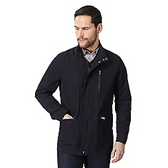 J by Jasper Conran - Big and tall navy funnel neck jacket