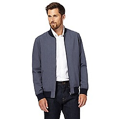 J by Jasper Conran - Big and tall blue seersucker bomber jacket