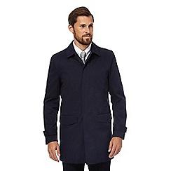 J by Jasper Conran - Big and tall navy mac coat