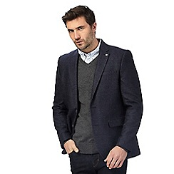 J by Jasper Conran - Big and tall navy textured wool rich jacket