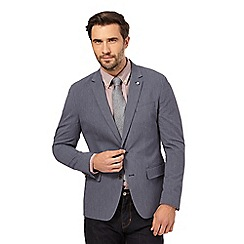 J by Jasper Conran - Big and tall grey seersucker suit jacket