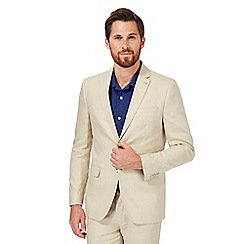 J by Jasper Conran - Big and tall natural single breasted blazer