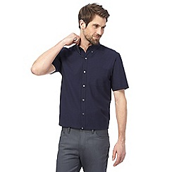 J by Jasper Conran - Navy seersucker shirt