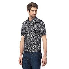 J by Jasper Conran - Big and tall navy floral print shirt