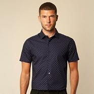 Designer navy diamond patterned shirt