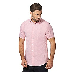 J by Jasper Conran - Big and tall pink textured regular fit shirt