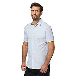 J by Jasper Conran - Blue textured regular fit shirt