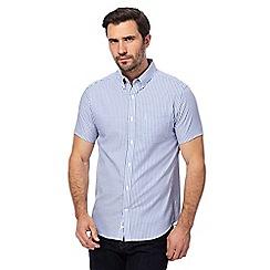J by Jasper Conran - Big and tall blue striped regular fit shirt