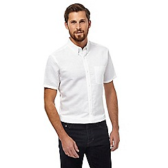 J by Jasper Conran - White linen rich short sleeve shirt