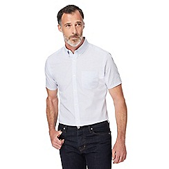 J by Jasper Conran - Navy striped regular fit shirt
