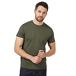 J by Jasper Conran - Big and tall khaki crew neck t-shirt