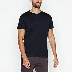 J by Jasper Conran - Navy supima cotton crew neck t-shirt