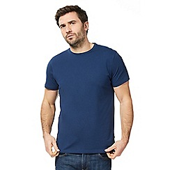 J by Jasper Conran - Big and tall navy Supima cotton crew neck t-shirt