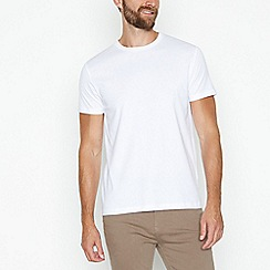 J by Jasper Conran - White supima cotton crew neck t-shirt