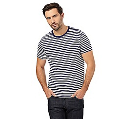 J by Jasper Conran - Big and tall navy striped t-shirt