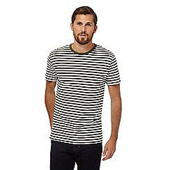 J by Jasper Conran - Big and tall white and khaki striped t-shirt