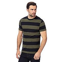 J by Jasper Conran - Big and tall navy striped t-shirt