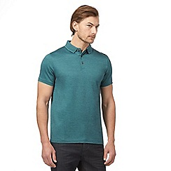 J by Jasper Conran - Big and tall green mini birdseye polo shirt