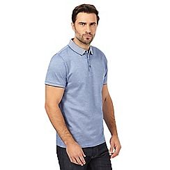 J by Jasper Conran - Big and tall blue mini birdseye polo shirt