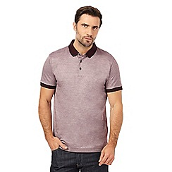 J by Jasper Conran - Dark red birdeye polo shirt