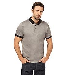 J by Jasper Conran - Big and tall grey birdeye polo shirt