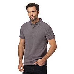 J by Jasper Conran - Big and tall grey striped polo shirt