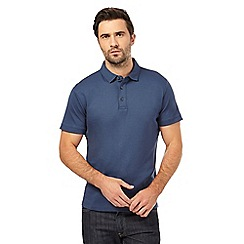 J by Jasper Conran - Mid blue supima polo shirt
