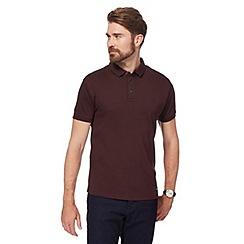 J by Jasper Conran - Big and tall plum supima polo shirt