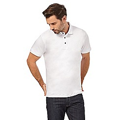J by Jasper Conran - Big and tall white supima polo shirt