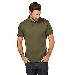 J by Jasper Conran - Big and tall khaki supima polo shirt