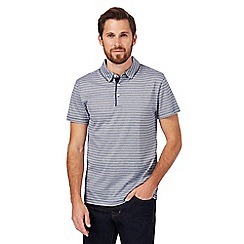 J by Jasper Conran - Dark blue striped polo shirt