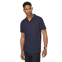 J by Jasper Conran - Navy textured polo shirt