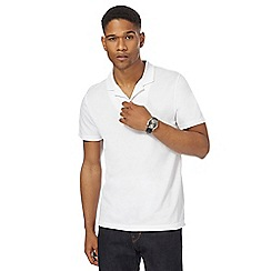 J by Jasper Conran - White textured polo shirt