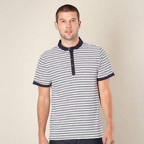 J by Jasper Conran - Designer navy slim striped polo shirt