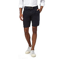 J by Jasper Conran - Navy linen shorts with a belt