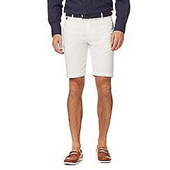 J by Jasper Conran - White belted canvas shorts